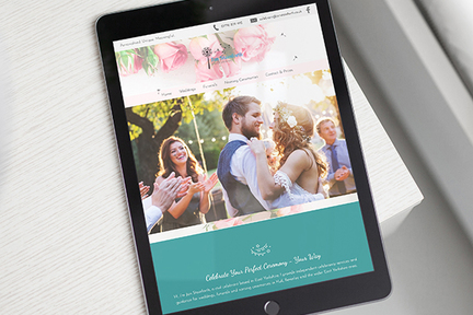 Celebrant website screen