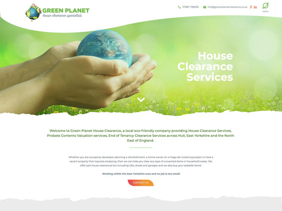 Green Planet House Clearance website