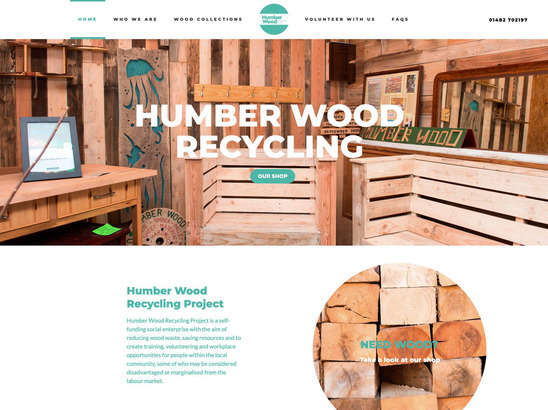 Humber Wood Recycling website