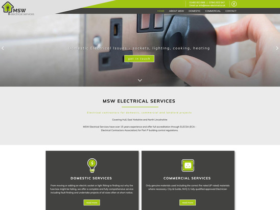 MSW Electrical Services website