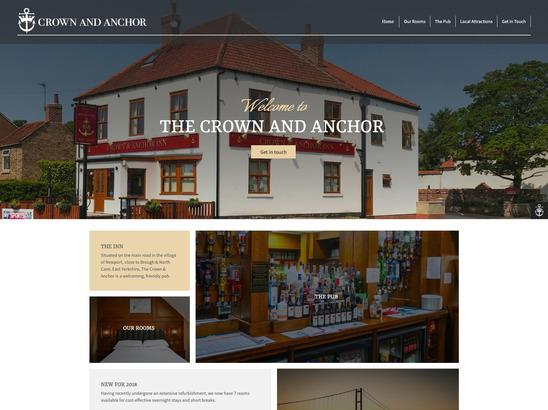 Crown and Anchor website