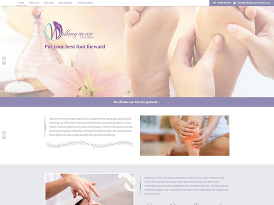 Walking On Air Therapies website