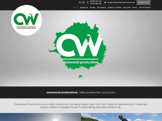 Cavewood Productions website
