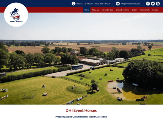 DHI Event Horses website