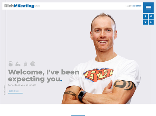 Rich McKeating Fitness & Training website