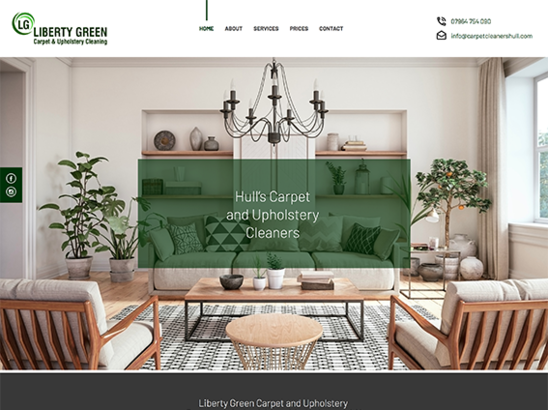 Liberty Green - Carpet Cleaning website