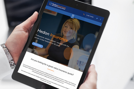 Hedon Insurance website screen