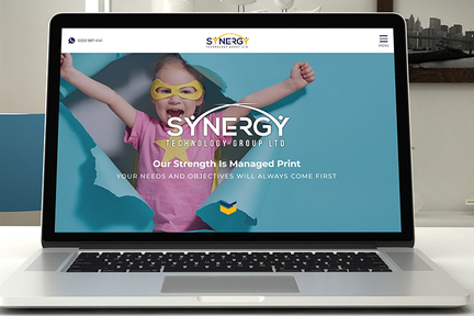 Synergy website screen